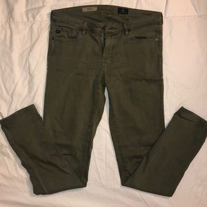 AG The Stilt in Army Green- size 28r
